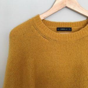 Zara Oversized Mustard Sweater